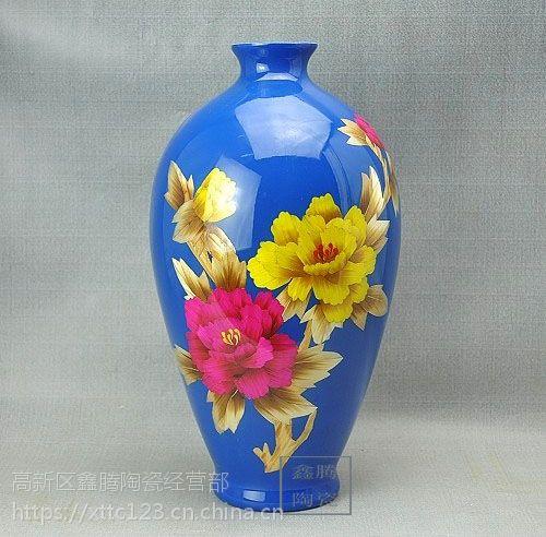 供应中国红麦杆花瓶 鑫腾陶瓷