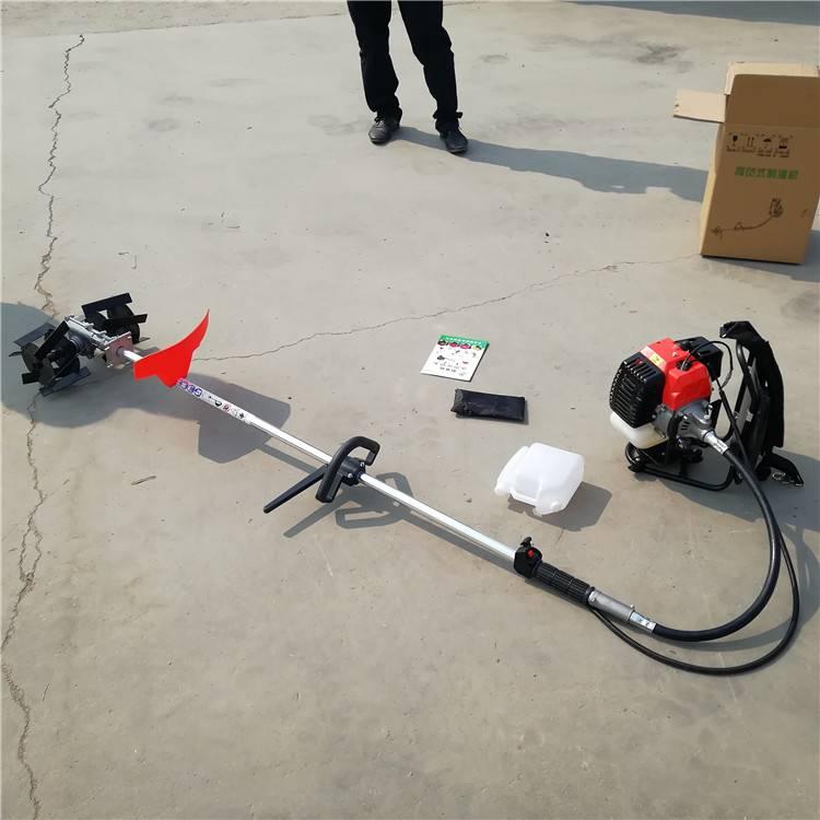 小型汽油锄地机 背负式农用锄草机 圣鲁大棚微耕机