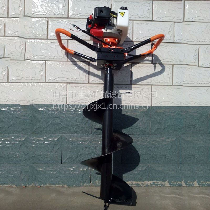 冻土钻眼机 液压动力挖坑机多少钱 佳鑫小型植树挖坑机价格
