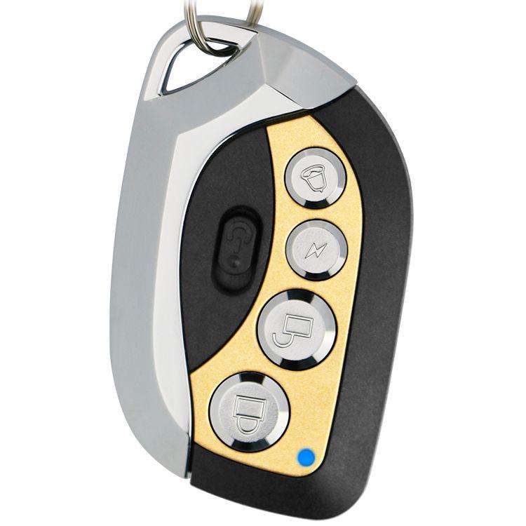 芯触发315/433.92M金属四建固定码学习码电动车库门拨码对拷遥控器