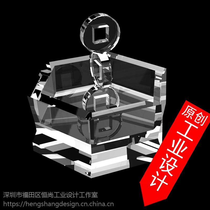 创意水晶产品设计烟灰缸工艺品奖杯首饰工业设计产品外观造型