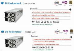 3Y电力/YH-5821/YH-5721/2U冗余电源/YM-2821A模块/YM-2721A模块
