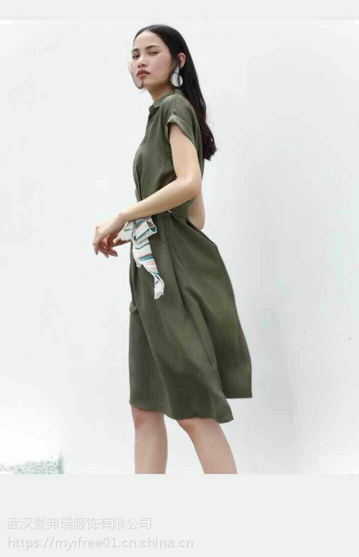 杭州一线品牌黑泽尔18春 欧美范连衣裙尾货