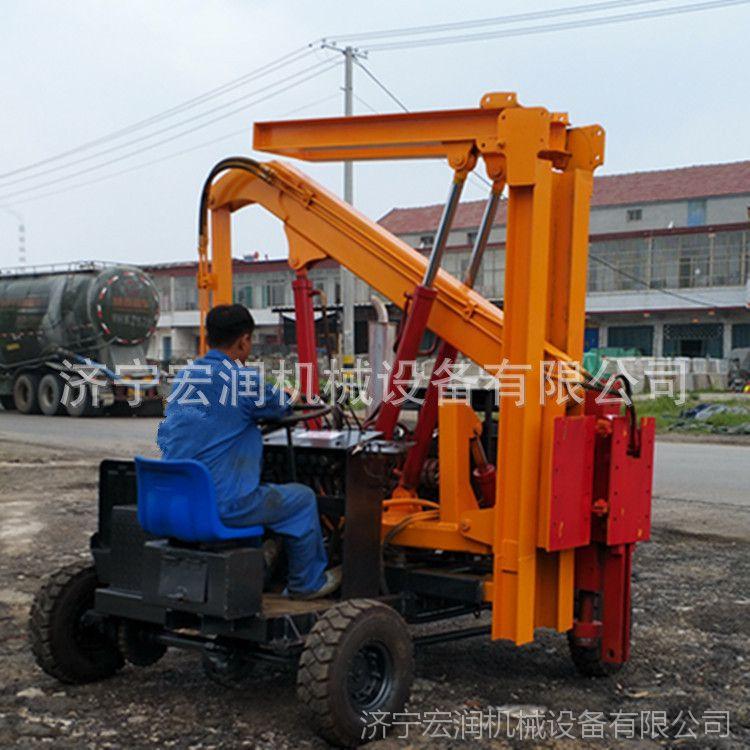 四轮打桩机 轮胎式打桩机 小型打桩机生产厂家