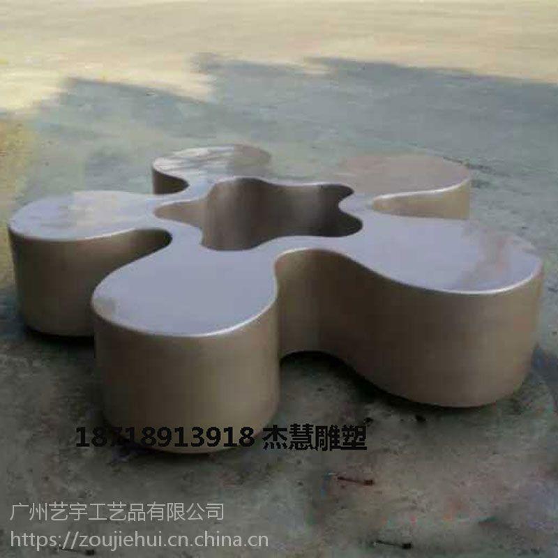 深圳玻璃钢组合花盆座椅 蝴蝶花型玻璃钢休闲等候椅价格 花盆凳子商场创意美陈