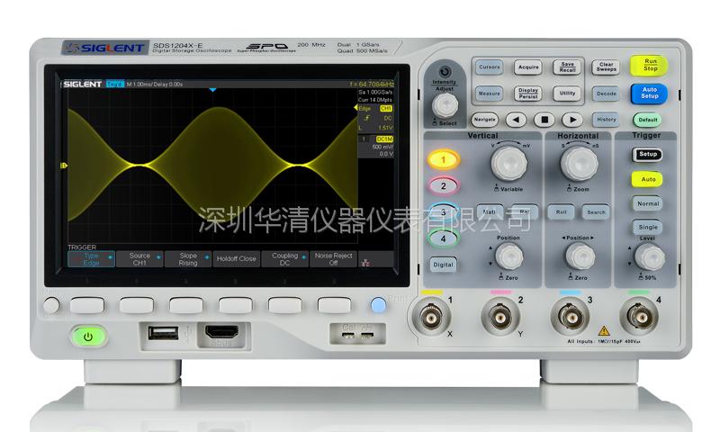 数字示波器SDS1104CFL 100MHz 4通道 示波器