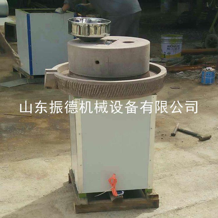 硬质花岗岩电动石磨 多型号米浆肠粉机 香油磨酱机 自动石磨豆浆机厂家 振德