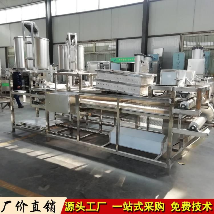 安徽亳州全自动千张豆腐皮机 商用全自动豆腐皮生产操作视频