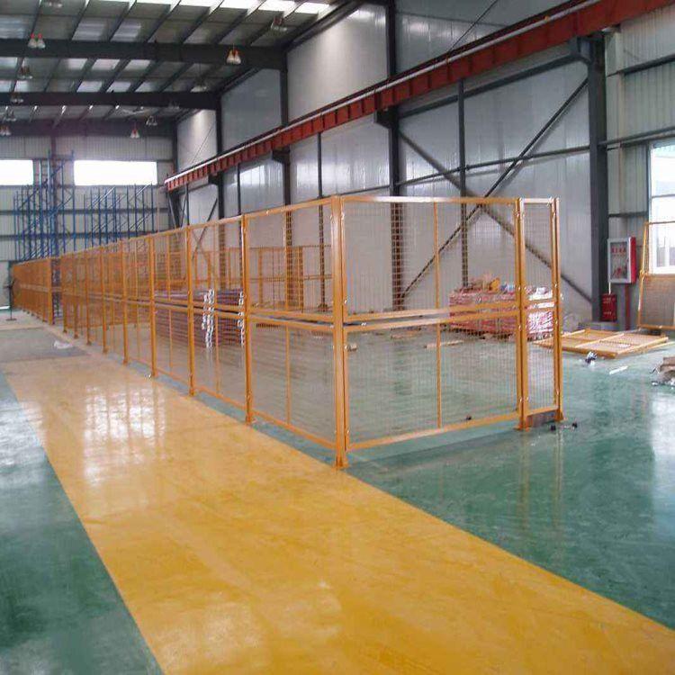雄丰 车间隔离网 绿色铁丝围栏 工厂围墙防护焊接网