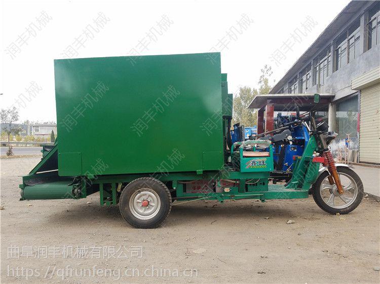 养牛场用饲料撒料车 润丰 电动撒料车 使用效果