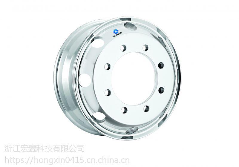22.5*8.25浙江宏鑫科技有限公司生产锻造镁铝合金轮毂卡客车轻量化轮毂