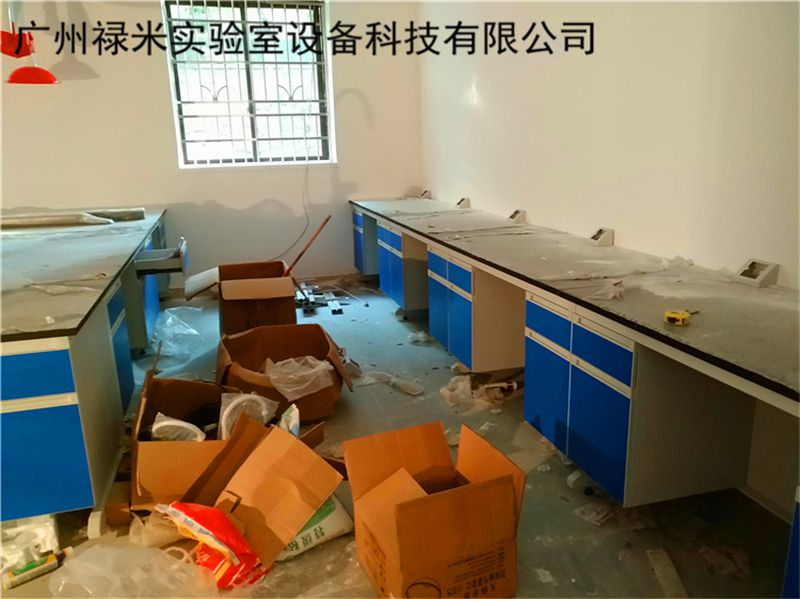 广州禄米实验台安装现场