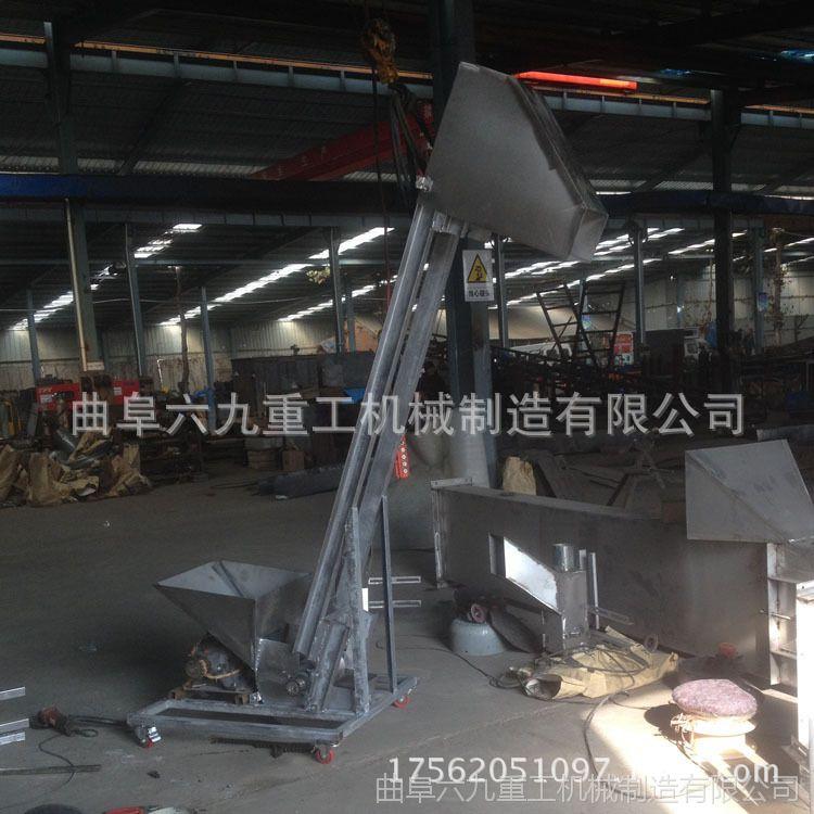 新宁县玉米挖斗式提升机 粮食装仓用送料机 垂直钢斗式上料机图片