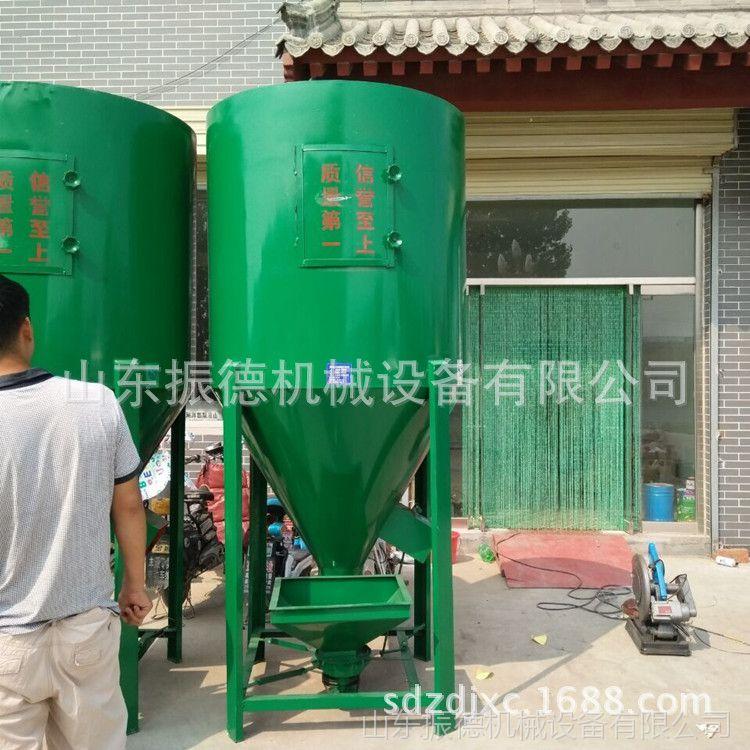 立式饲料粉碎搅拌机 振德 立式粉碎搅拌设备 饲料混合搅拌机械