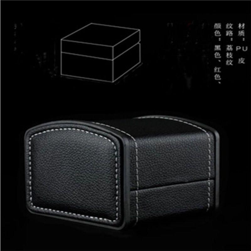 高档皮质手表盒 荔枝纹翻盖手表包装盒单个装watch box