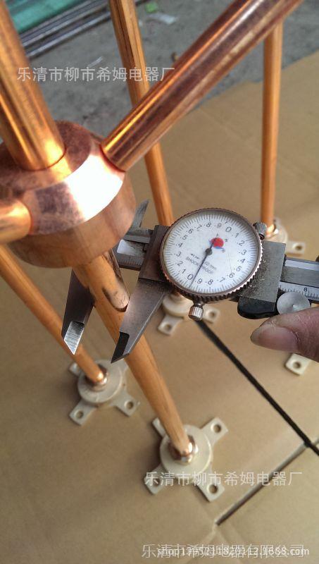 【厂家直销】无磁性不锈钢镀紫铜避雷针避雷器15mm 0.5m底座260g