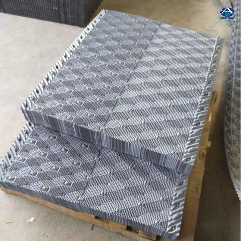 哪里换空研冷却塔填料 PVC塑料填料收水器价格750*2300 【河北华强】