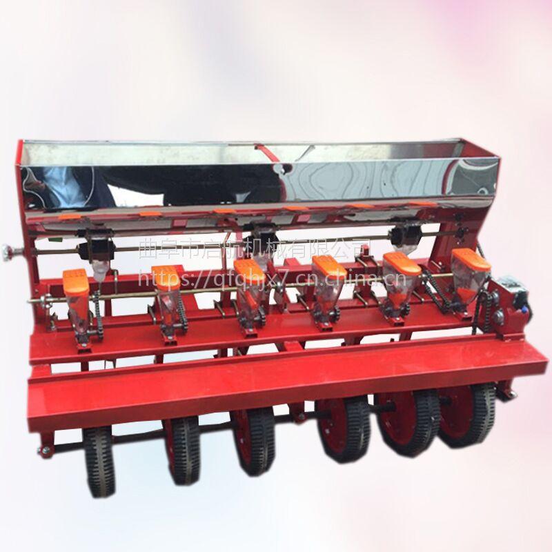 多功能蔬菜白菜播种机 拖拉机带韭菜播种机 启航萝卜精播机