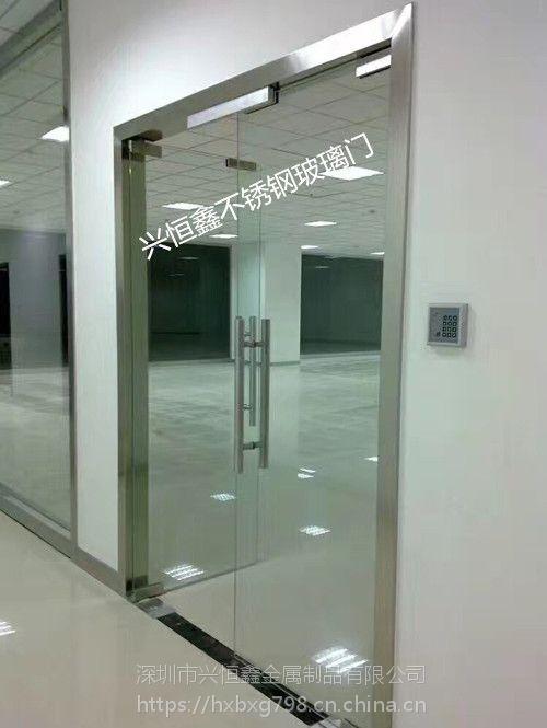 定做深圳南山科技园办公室玻璃门密码锁玻璃门玻璃隔墙
