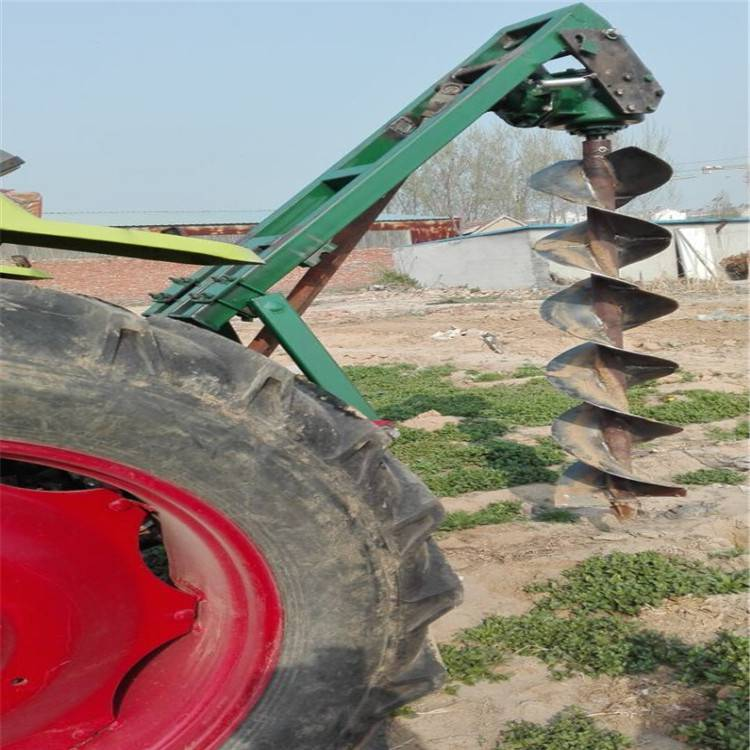 信阳市大马力植树挖坑机 启航牌大棚埋桩钻坑机 拖拉机带电线杆打眼机生产厂家