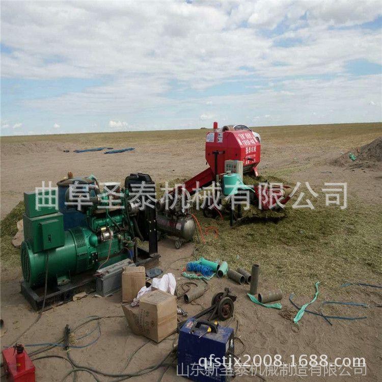 厂家直销青贮打捆包膜机 秸秆打包机多钱 玉米秸秆青贮打包机