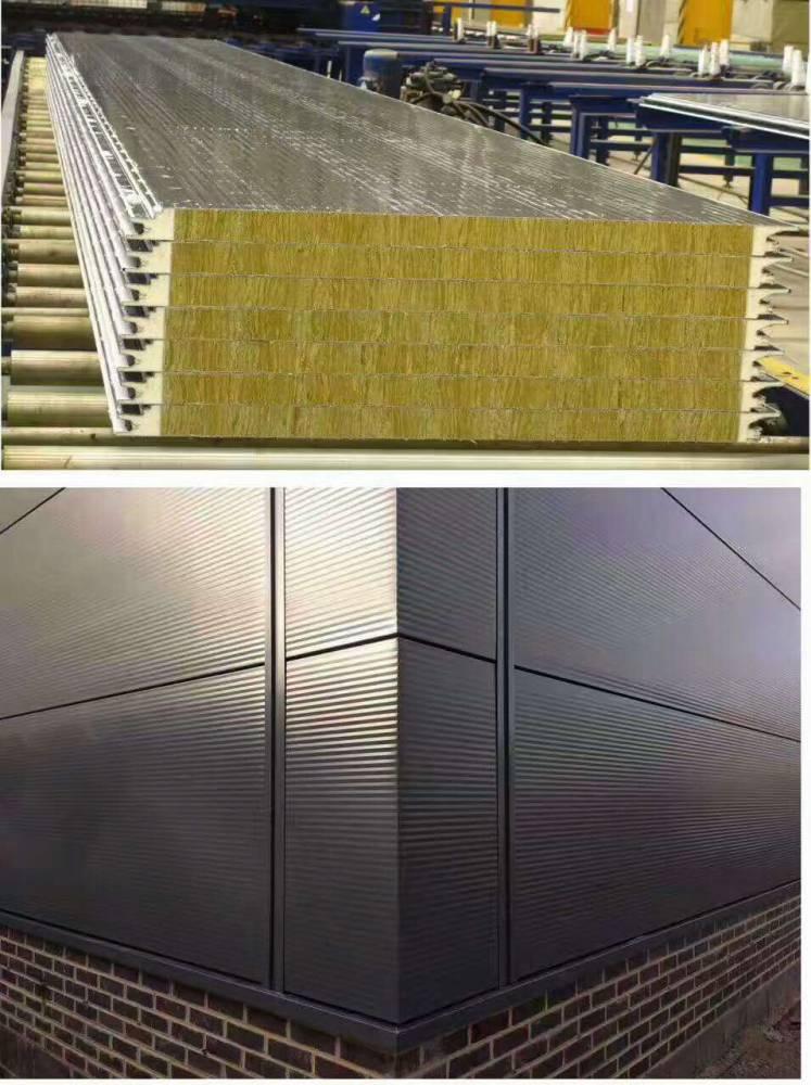 内蒙彩钢聚氨酯复合板厂家聚氨酯封边岩棉复合板厂家13271279363