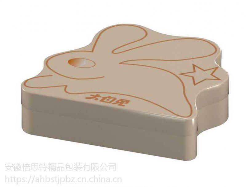 供应趣味糖果铁盒 兔形糖果包装盒专业定制