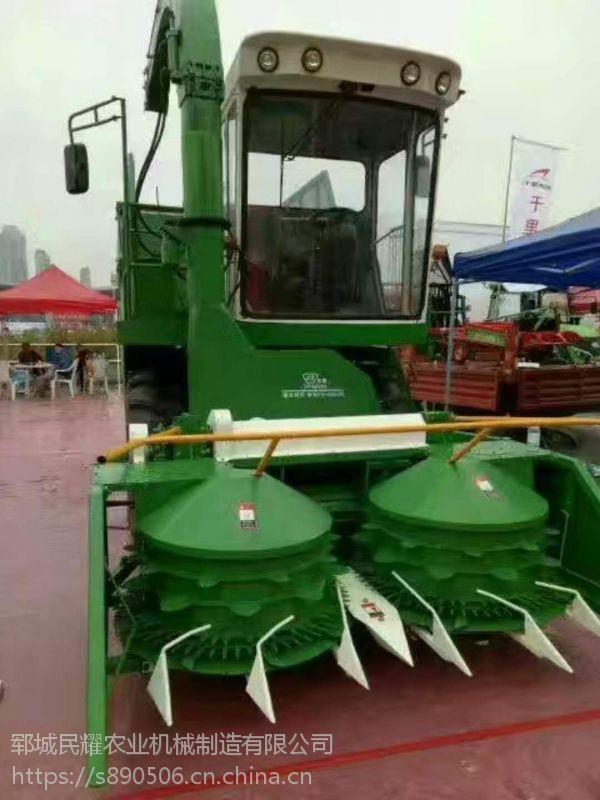 大型圆盘式皇竹草靑储机 黑麦草收割机 双转盘割台 秸秆青贮粉碎机