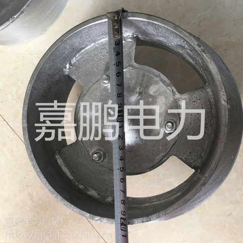 铁路无缝钢管梯车轮 215mm轨道专用梯车轮 铸铁铁路轨道单边轮