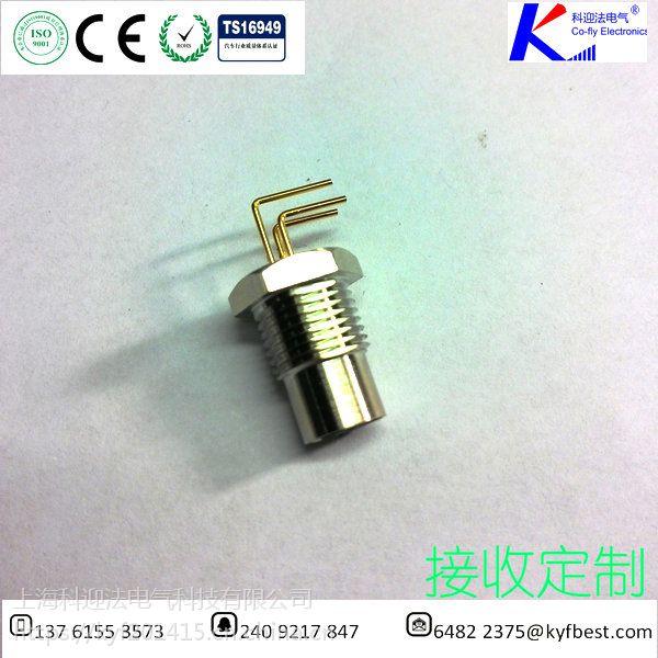 科迎法M8四方法兰传感器插座针型-3针-4针-5针-6针板前锁紧