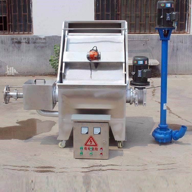 农场粪水挤干机 猪屎水固液分离机 农场粪水脱干机 润丰