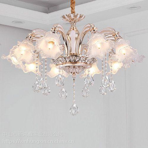 马到成功中式吊灯 锌合金客厅吊灯 鄂尔多斯水晶灯价格
