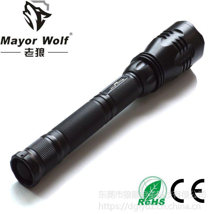 供应厂家批发 led强光手电筒 户外照明防身led战术军用充电手电筒