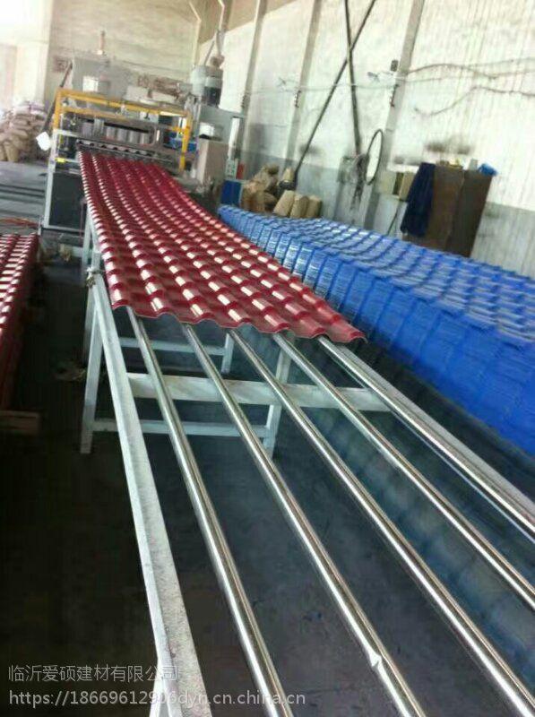 厂家直销 山东1050型优质环保合成树脂瓦 防腐树脂琉璃瓦 ASA树脂瓦