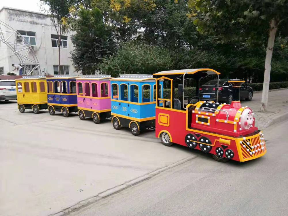 海洋火车 托马斯无轨火车 公园景区流行的新型陆地游乐设备宏德定制