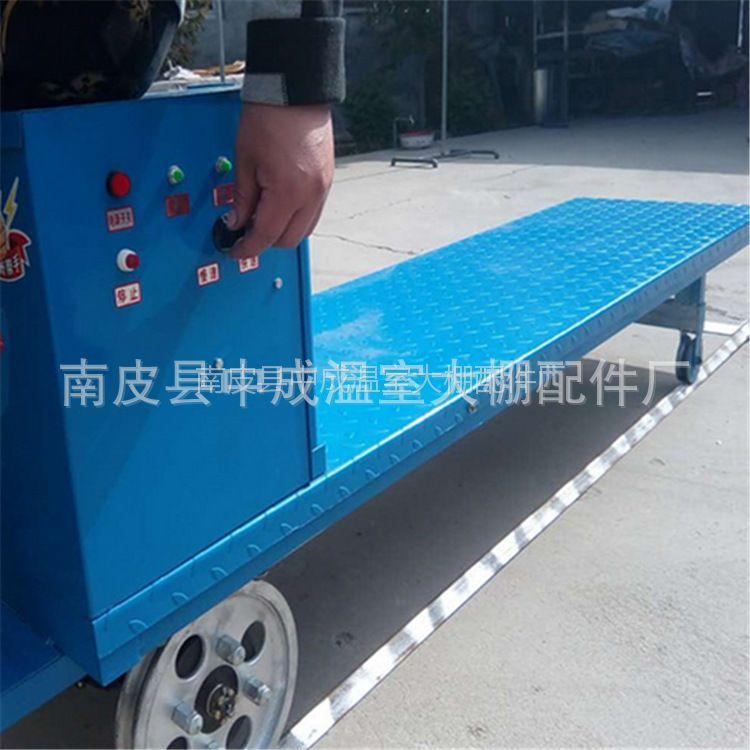 大棚电动轨道运输车沧州厂家直销山东 蔬菜温室大棚专用电动运输车