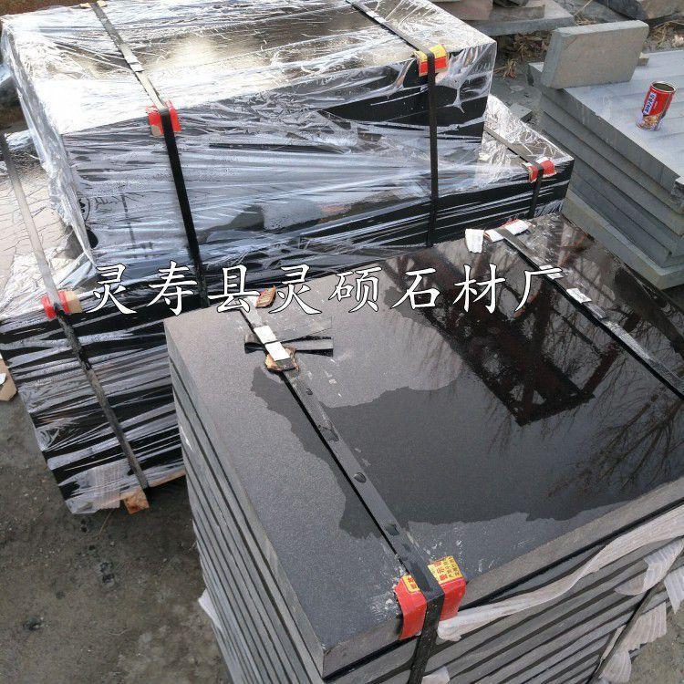 石材毛板中国黑 厂家直销天然黑色花岗岩 灵硕石材