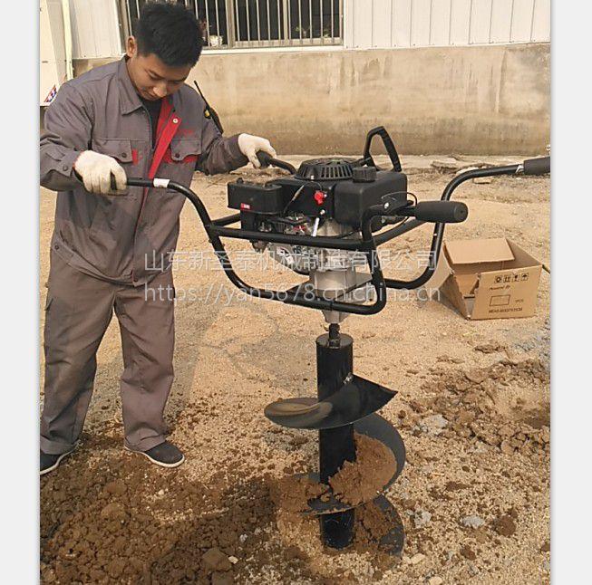 拖拉机地钻挖坑机多少钱果树施肥打眼机小型转眼机