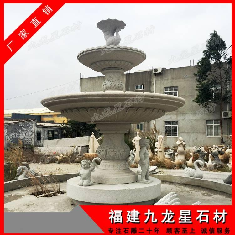 石雕欧式喷泉 花岗岩水钵 石头喷泉生产制作厂家