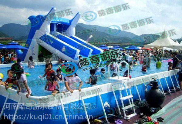大象滑梯 水上充气游乐设备充气游泳池