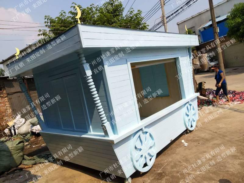 美食节售卖木花车移动手推展示车促销车商场美陈售货车