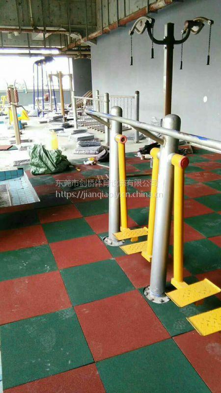 厂家批发橡胶地垫公园多色橡胶地板组合安装