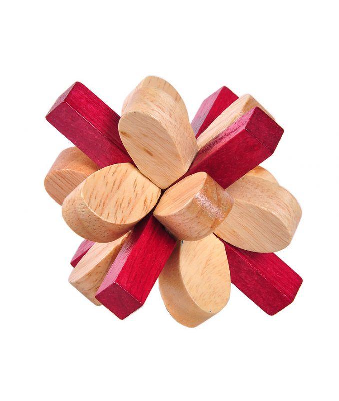 孔明锁丁香锁_成人木制玩具孔明锁鲁班球 双色梅花锁丁香花锁