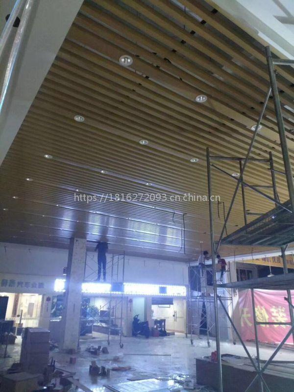 厂家定制不同规格铝方通吊顶天花