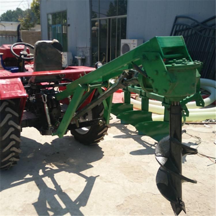 果园施颗粒肥钻坑机 启航篱笆埋桩打眼机 拖拉机后输出植树挖窝机厂家