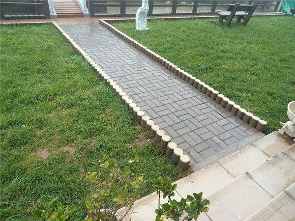 福建水泥仿腐木栅栏、仿木树桩护栏 草坪栅栏