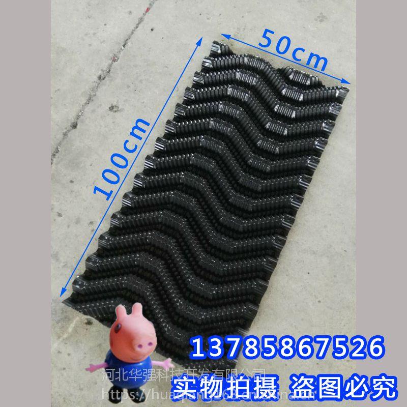2018年开春养黄鳝实验基地 鳝巢大量投入使用 加厚S型蜂窝塑料片 河北华强