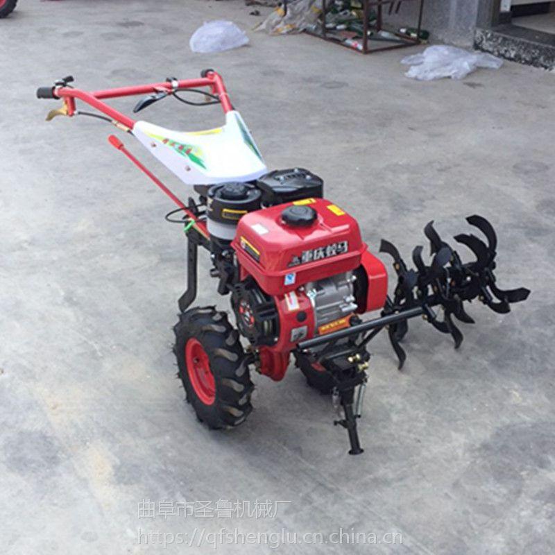 果园农田碎土机 汽油自走式旋耕机 圣鲁松土除草机