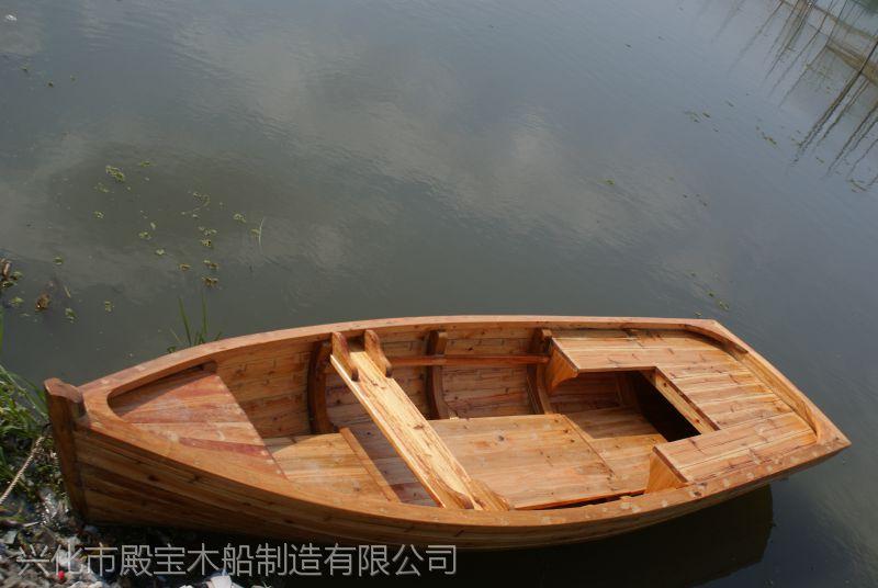 殿宝木船 加工定制 欧式木船 一头尖 观光船 装饰道具船