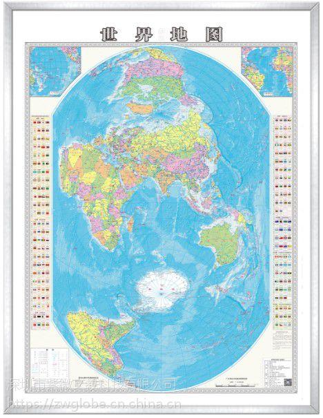 深圳紫微星1300mm教学用高清智能语音竖版世界地图MAP-SJD